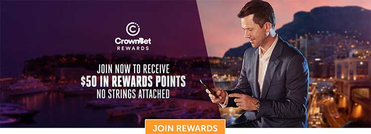 Crownbet.com.au rewards points