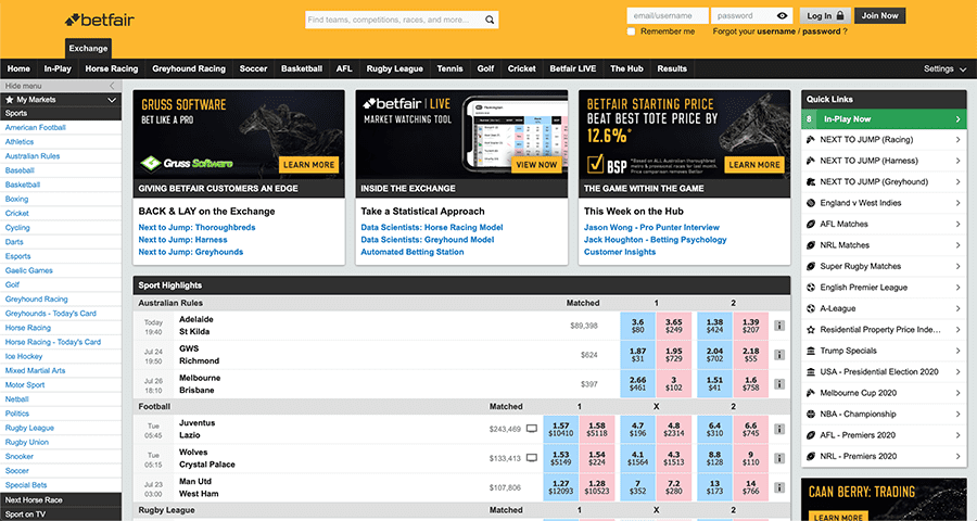 Betfair sports racing review